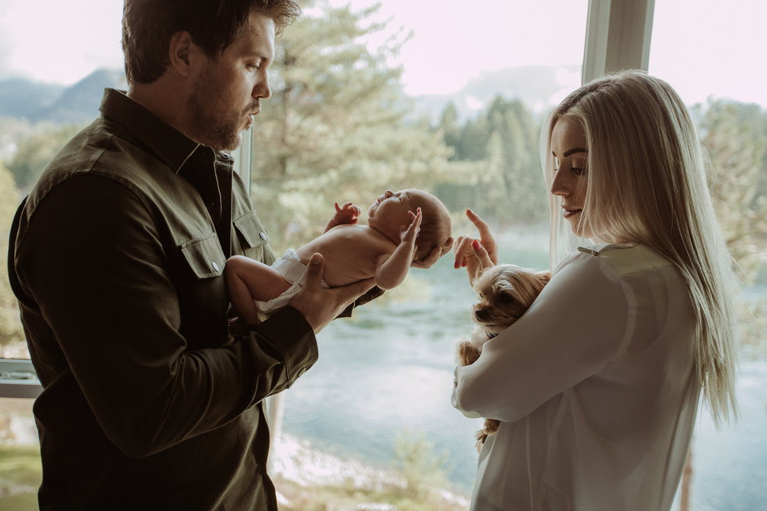 Kootenay in home newborn photography